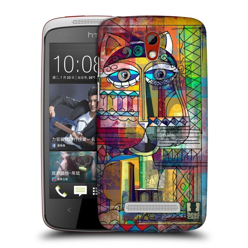 Plastové pouzdro na mobil HTC Desire 500 HEAD CASE AZTEC KORAT (Kryt či obal na mobilní telefon HTC Desire 500)