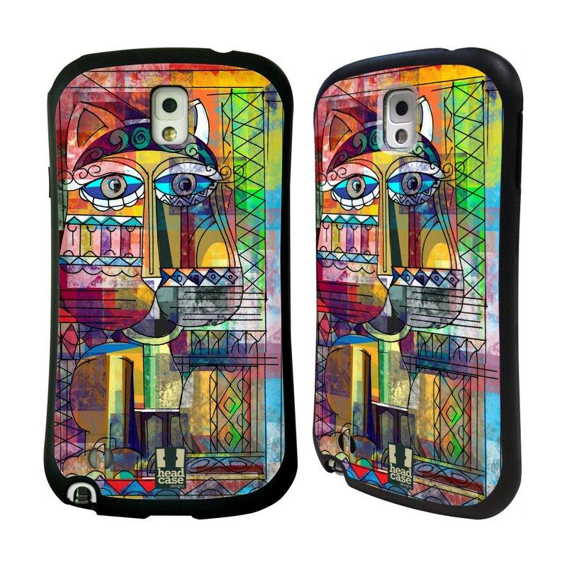 Nárazuvzdorné pouzdro na mobil Samsung Galaxy Note 3 HEAD CASE AZTEC KORAT (Odolný nárazuvzdorný silikonový kryt či obal na mobilní telefon Samsung Galaxy Note 3 SM-N9005)
