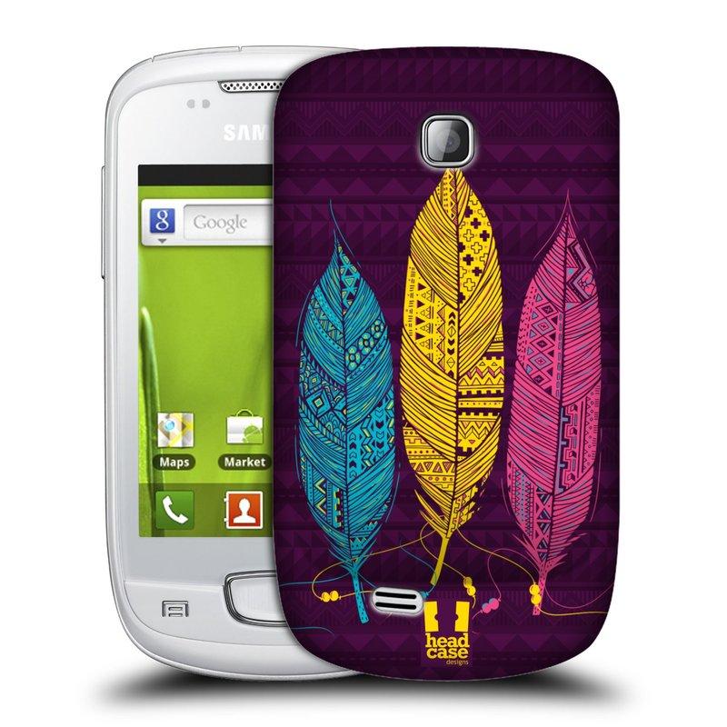 Plastové pouzdro na mobil Samsung Galaxy Mini HEAD CASE AZTEC PÍRKA 3 BAREV (Kryt či obal na mobilní telefon Samsung Galaxy Mini GT-S5570 / GT-S5570i)