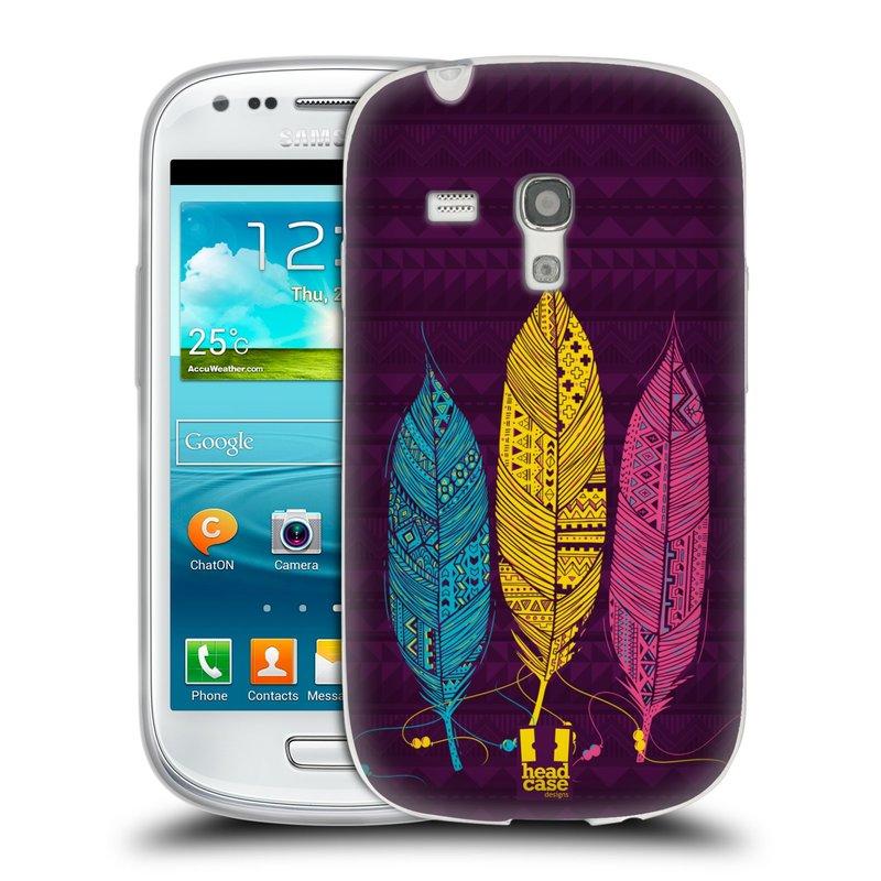 Silikonové pouzdro na mobil Samsung Galaxy S III Mini HEAD CASE AZTEC PÍRKA 3 BAREV (Silikonový kryt či obal na mobilní telefon Samsung Galaxy S III Mini GT-i8190)