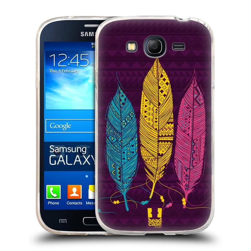 Silikonové pouzdro na mobil Samsung Galaxy Grand Neo HEAD CASE AZTEC PÍRKA 3 BAREV (Silikonový kryt či obal na mobilní telefon Samsung Galaxy Grand Neo GT-I9060)