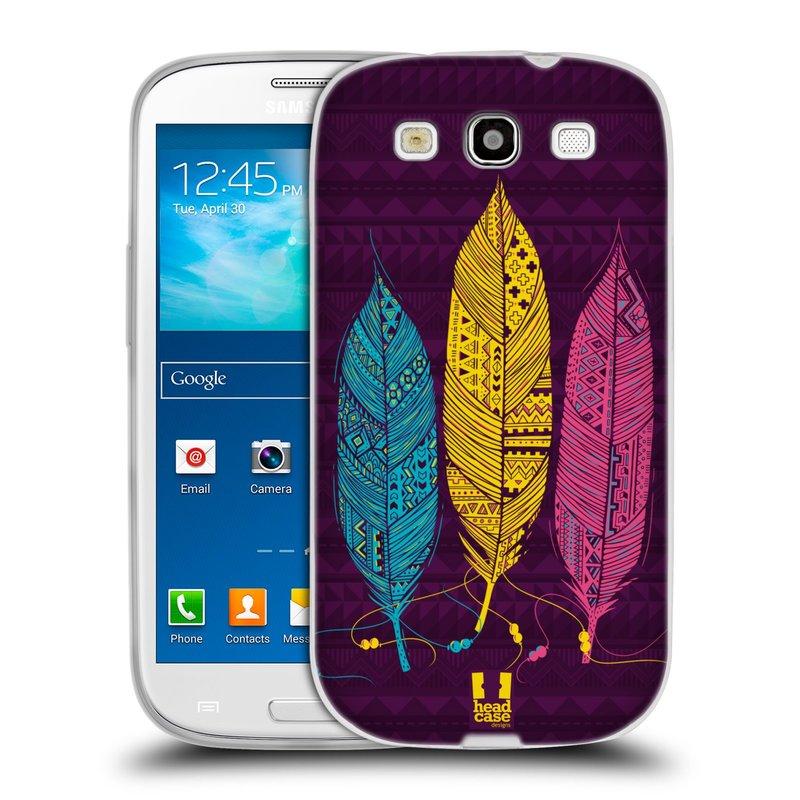 Silikonové pouzdro na mobil Samsung Galaxy S III HEAD CASE AZTEC PÍRKA 3 BAREV (Silikonový kryt či obal na mobilní telefon Samsung Galaxy S III GT-i9300)