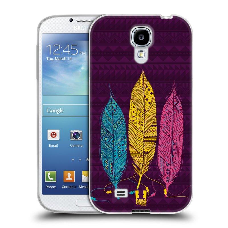 Silikonové pouzdro na mobil Samsung Galaxy S4 HEAD CASE AZTEC PÍRKA 3 BAREV (Silikonový kryt či obal na mobilní telefon Samsung Galaxy S4 GT-i9505 / i9500)