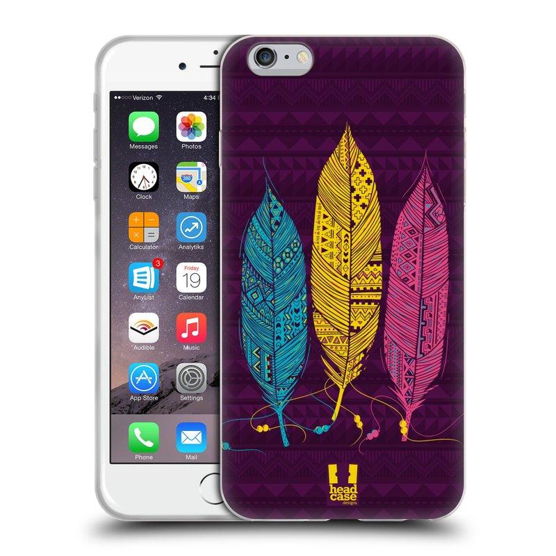 Silikonové pouzdro na mobil Apple iPhone 6 Plus a 6S Plus HEAD CASE AZTEC PÍRKA 3 BAREV (Silikonový kryt či obal na mobilní telefon Apple iPhone 6 Plus a 6S Plus)