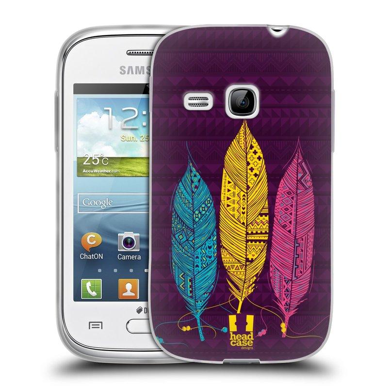Silikonové pouzdro na mobil Samsung Galaxy Young HEAD CASE AZTEC PÍRKA 3 BAREV (Silikonový kryt či obal na mobilní telefon Samsung Galaxy Young GT-S6310)