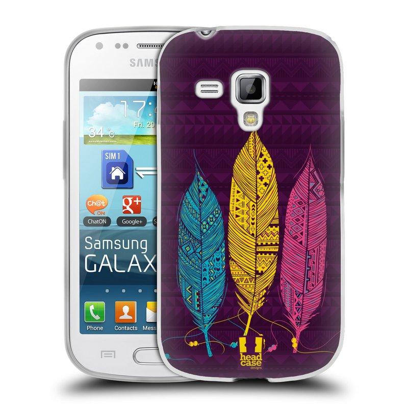 Silikonové pouzdro na mobil Samsung Galaxy Trend HEAD CASE AZTEC PÍRKA 3 BAREV (Silikonový kryt či obal na mobilní telefon Samsung Galaxy Trend GT-S7560)