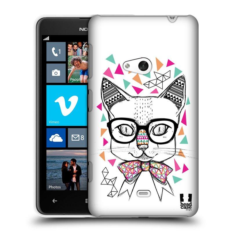 Plastové pouzdro na mobil Nokia Lumia 625 HEAD CASE AZTEC KOČIČKA (Kryt či obal na mobilní telefon Nokia Lumia 625)