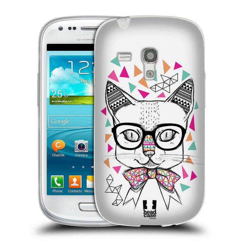 Silikonové pouzdro na mobil Samsung Galaxy S3 Mini VE HEAD CASE AZTEC KOČIČKA (Silikonový kryt či obal na mobilní telefon Samsung Galaxy S3 Mini VE GT-i8200)
