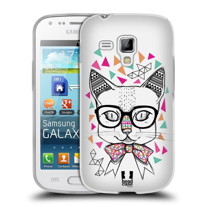 Silikonové pouzdro na mobil Samsung Galaxy S Duos 2 HEAD CASE AZTEC KOČIČKA (Silikonový kryt či obal na mobilní telefon Samsung Galaxy S Duos 2 GT-S7582)