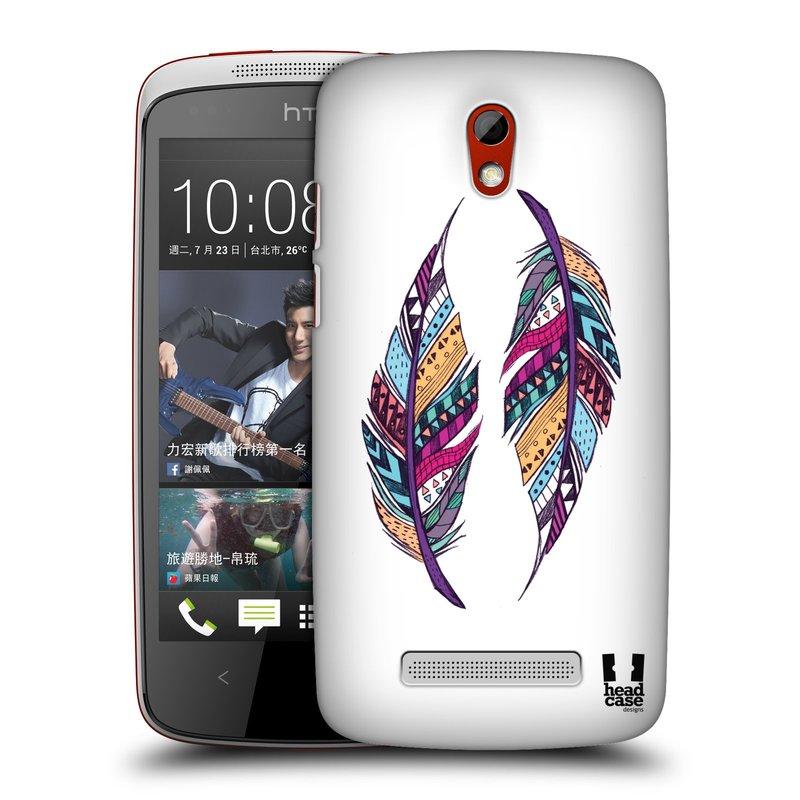 Plastové pouzdro na mobil HTC Desire 500 HEAD CASE AZTEC PÍRKA (Kryt či obal na mobilní telefon HTC Desire 500)