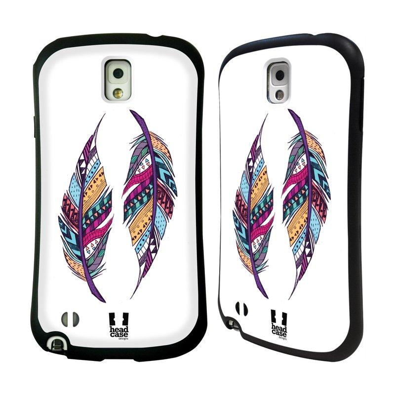 Nárazuvzdorné pouzdro na mobil Samsung Galaxy Note 3 HEAD CASE AZTEC PÍRKA (Odolný nárazuvzdorný silikonový kryt či obal na mobilní telefon Samsung Galaxy Note 3 SM-N9005)