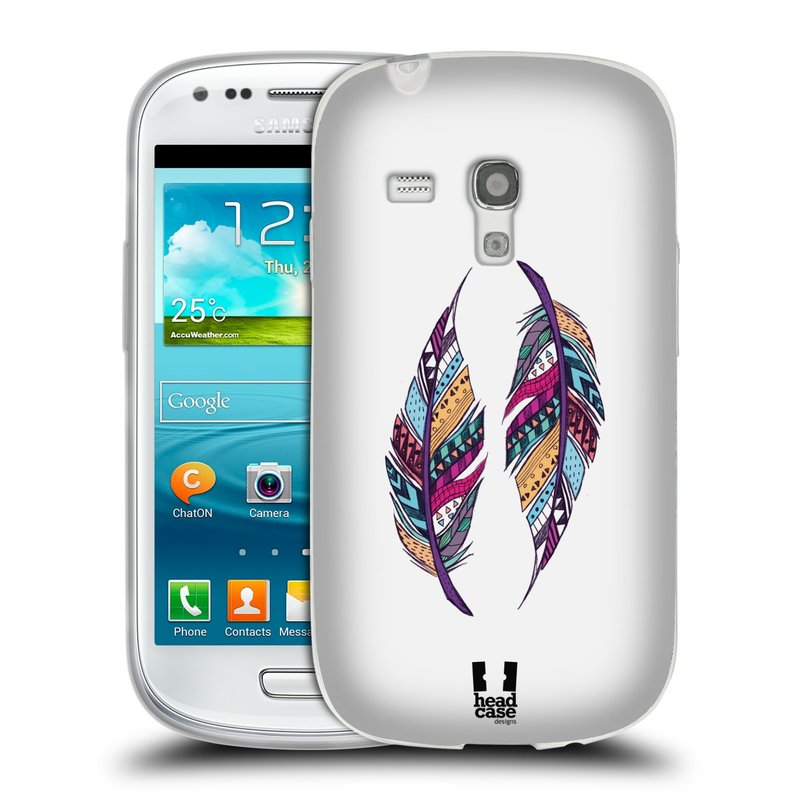 Silikonové pouzdro na mobil Samsung Galaxy S3 Mini VE HEAD CASE AZTEC PÍRKA (Silikonový kryt či obal na mobilní telefon Samsung Galaxy S3 Mini VE GT-i8200)