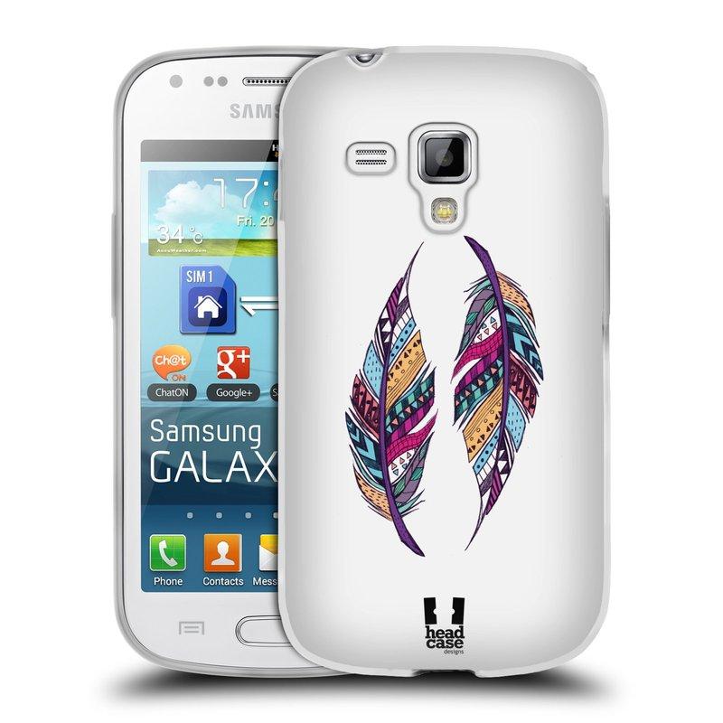 Silikonové pouzdro na mobil Samsung Galaxy S Duos 2 HEAD CASE AZTEC PÍRKA (Silikonový kryt či obal na mobilní telefon Samsung Galaxy S Duos 2 GT-S7582)