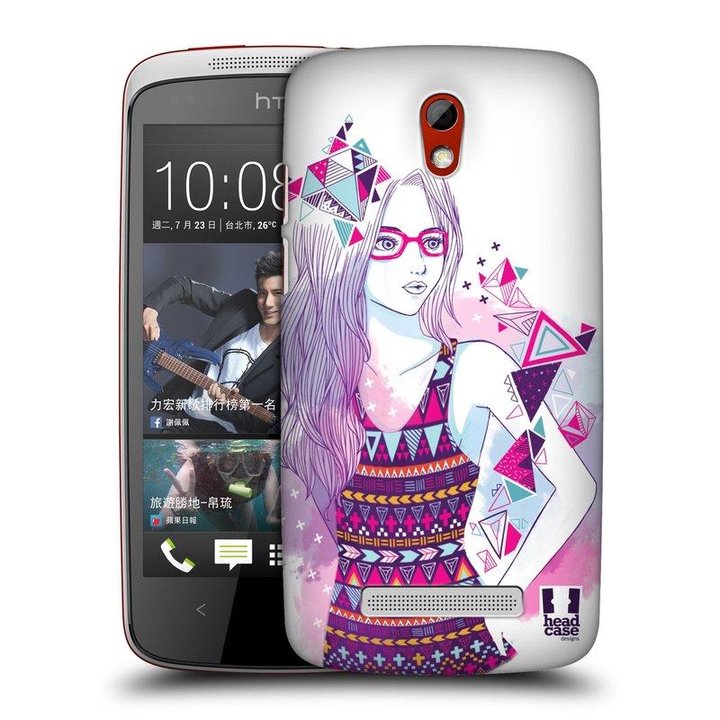 Plastové pouzdro na mobil HTC Desire 500 HEAD CASE AZTEC HOLKA (Kryt či obal na mobilní telefon HTC Desire 500)