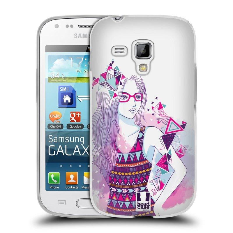 Silikonové pouzdro na mobil Samsung Galaxy S Duos 2 HEAD CASE AZTEC HOLKA (Silikonový kryt či obal na mobilní telefon Samsung Galaxy S Duos 2 GT-S7582)