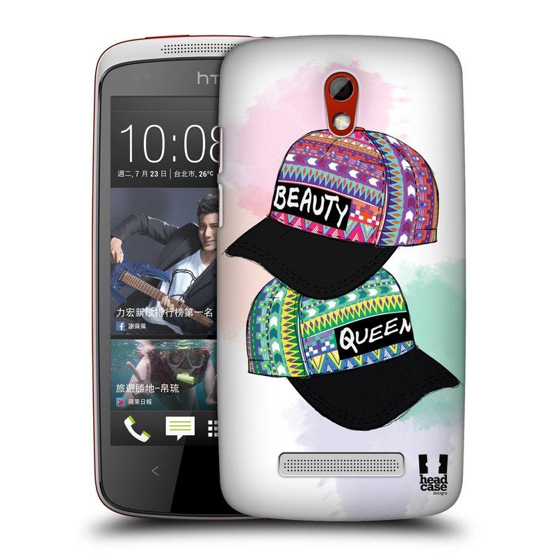 Plastové pouzdro na mobil HTC Desire 500 HEAD CASE AZTEC ČAPKY (Kryt či obal na mobilní telefon HTC Desire 500)
