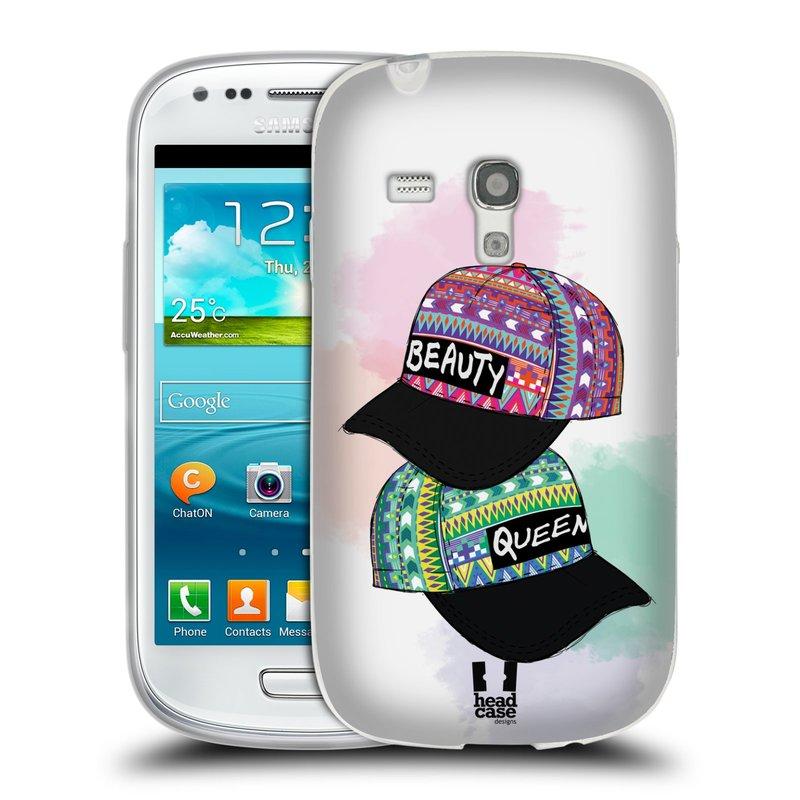 Silikonové pouzdro na mobil Samsung Galaxy S3 Mini VE HEAD CASE AZTEC ČAPKY (Silikonový kryt či obal na mobilní telefon Samsung Galaxy S3 Mini VE GT-i8200)