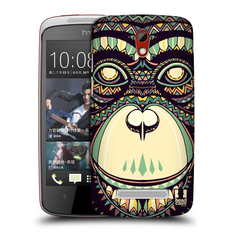 Plastové pouzdro na mobil HTC Desire 500 HEAD CASE AZTEC ŠIMPANZ (Kryt či obal na mobilní telefon HTC Desire 500)