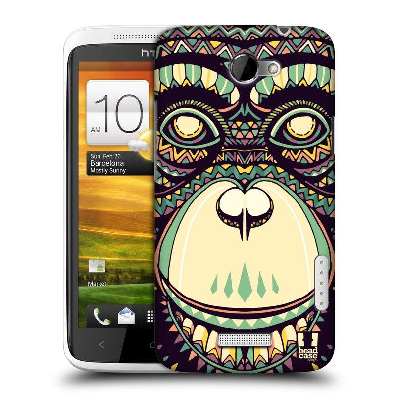 Plastové pouzdro na mobil HTC ONE X HEAD CASE AZTEC ŠIMPANZ (Kryt či obal na mobilní telefon HTC ONE X)