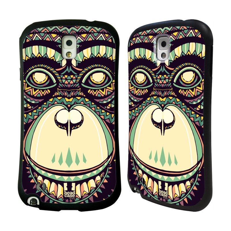 Nárazuvzdorné pouzdro na mobil Samsung Galaxy Note 3 HEAD CASE AZTEC ŠIMPANZ (Odolný nárazuvzdorný silikonový kryt či obal na mobilní telefon Samsung Galaxy Note 3 SM-N9005)