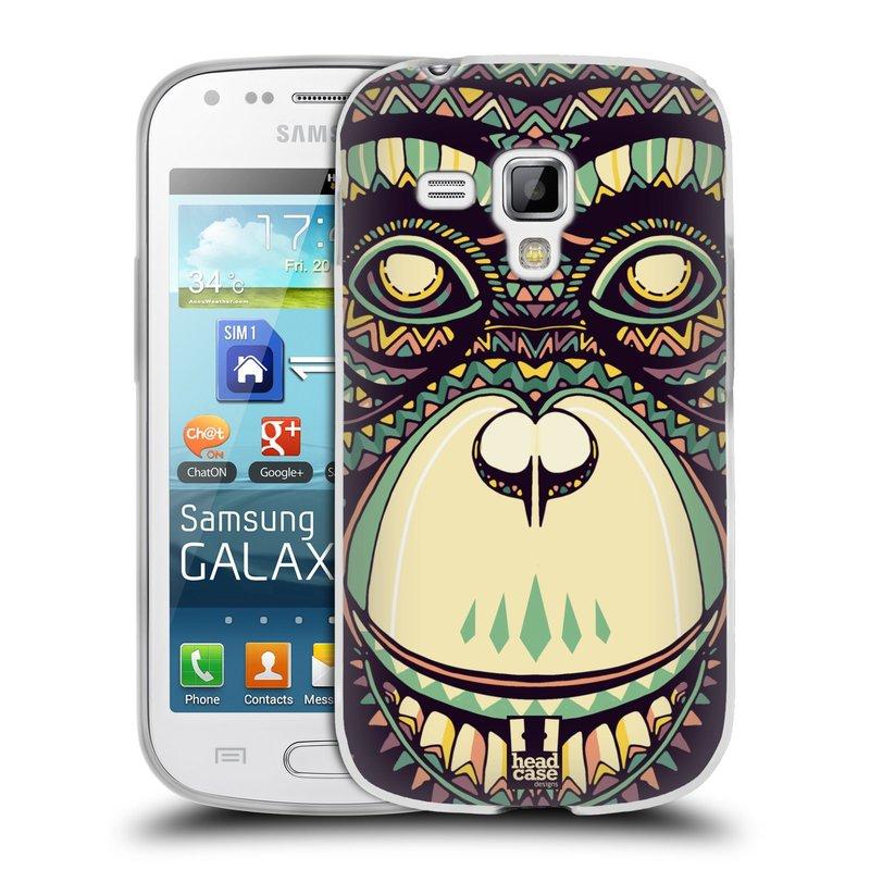 Silikonové pouzdro na mobil Samsung Galaxy S Duos 2 HEAD CASE AZTEC ŠIMPANZ (Silikonový kryt či obal na mobilní telefon Samsung Galaxy S Duos 2 GT-S7582)