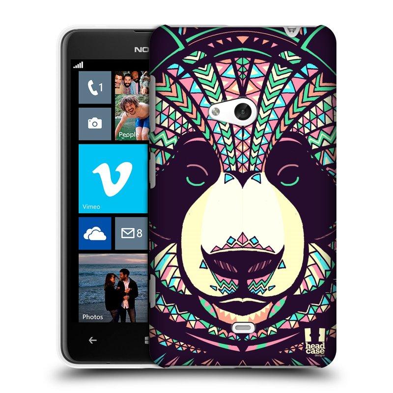 Plastové pouzdro na mobil Nokia Lumia 625 HEAD CASE AZTEC PANDA (Kryt či obal na mobilní telefon Nokia Lumia 625)