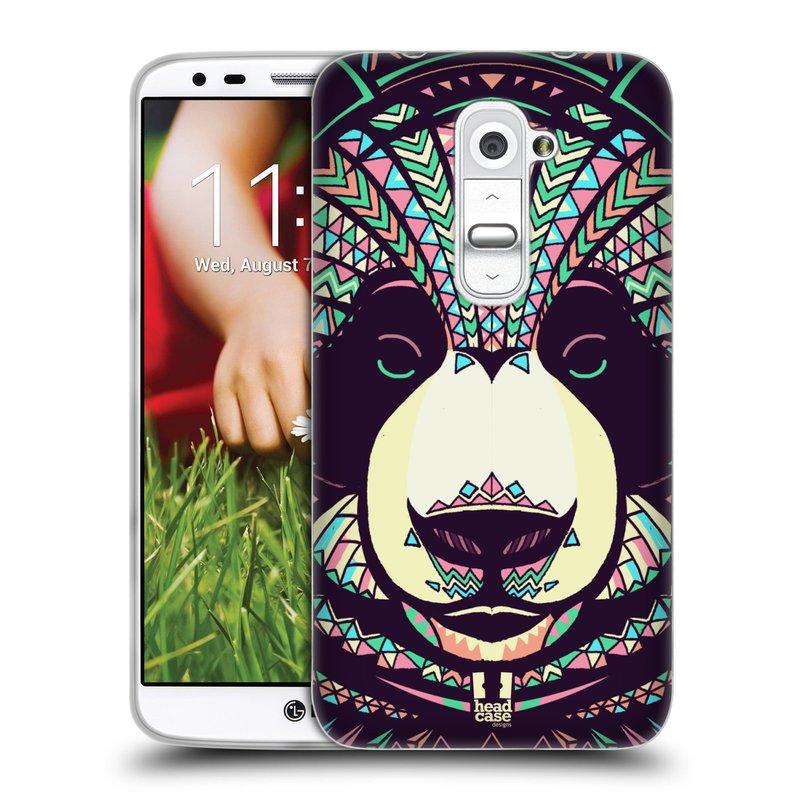 Silikonové pouzdro na mobil LG G2 HEAD CASE AZTEC PANDA (Silikonový kryt či obal na mobilní telefon LG G2 D802)