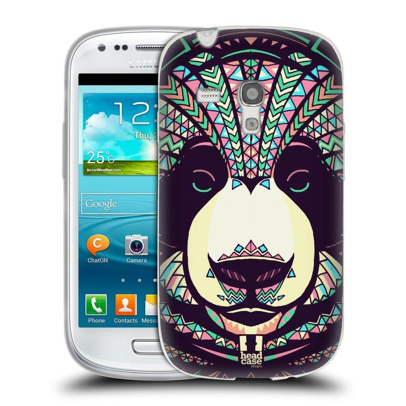 Silikonové pouzdro na mobil Samsung Galaxy S III Mini HEAD CASE AZTEC PANDA (Silikonový kryt či obal na mobilní telefon Samsung Galaxy S III Mini GT-i8190)