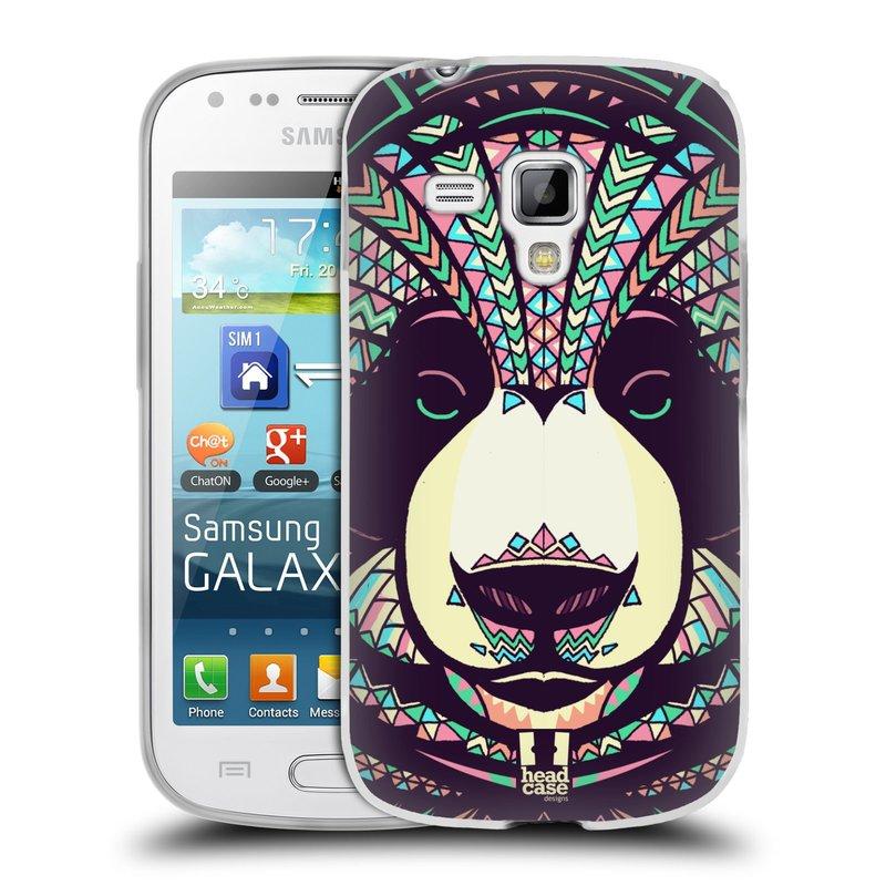 Silikonové pouzdro na mobil Samsung Galaxy S Duos 2 HEAD CASE AZTEC PANDA (Silikonový kryt či obal na mobilní telefon Samsung Galaxy S Duos 2 GT-S7582)