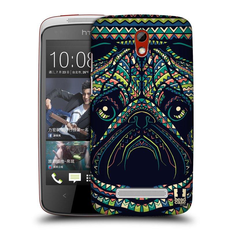 Plastové pouzdro na mobil HTC Desire 500 HEAD CASE AZTEC MOPS (Kryt či obal na mobilní telefon HTC Desire 500)