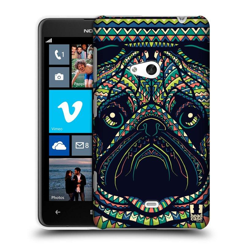 Plastové pouzdro na mobil Nokia Lumia 625 HEAD CASE AZTEC MOPS (Kryt či obal na mobilní telefon Nokia Lumia 625)