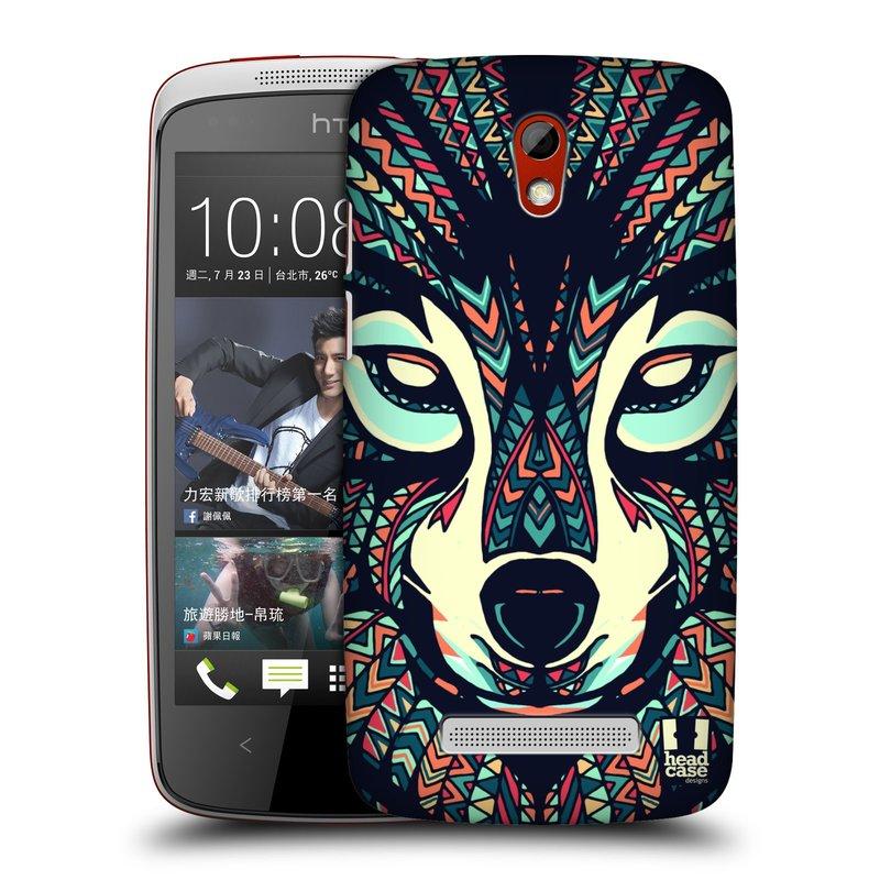 Plastové pouzdro na mobil HTC Desire 500 HEAD CASE AZTEC VLK (Kryt či obal na mobilní telefon HTC Desire 500)