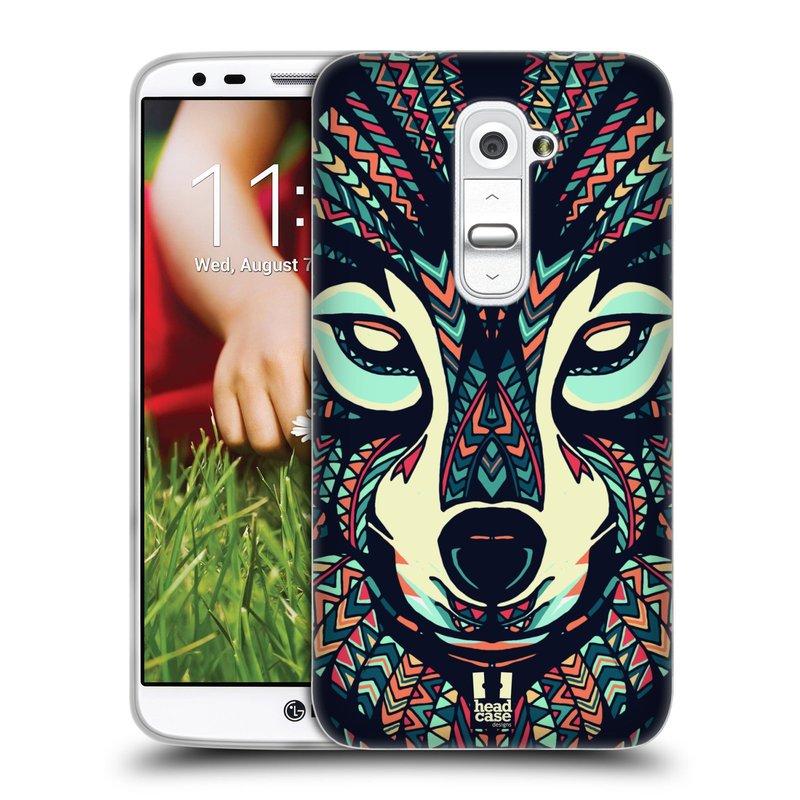 Silikonové pouzdro na mobil LG G2 HEAD CASE AZTEC VLK (Silikonový kryt či obal na mobilní telefon LG G2 D802)