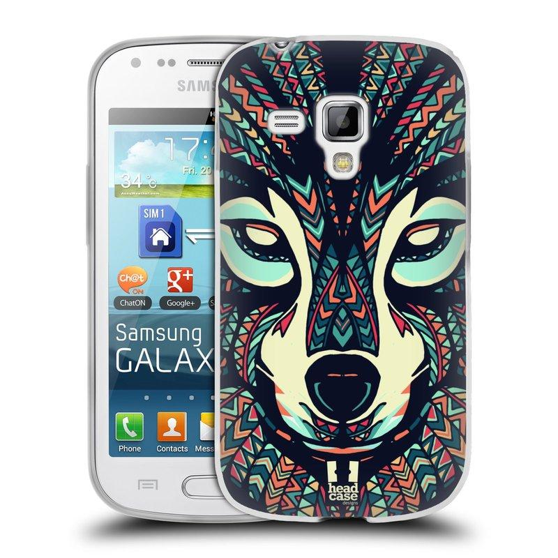 Silikonové pouzdro na mobil Samsung Galaxy S Duos 2 HEAD CASE AZTEC VLK (Silikonový kryt či obal na mobilní telefon Samsung Galaxy S Duos 2 GT-S7582)