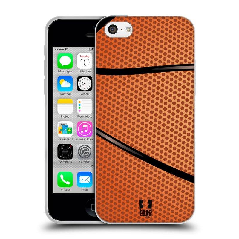 Silikonové pouzdro na mobil Apple iPhone 5C HEAD CASE BASKEŤÁK (Silikonový kryt či obal na mobilní telefon Apple iPhone 5C)