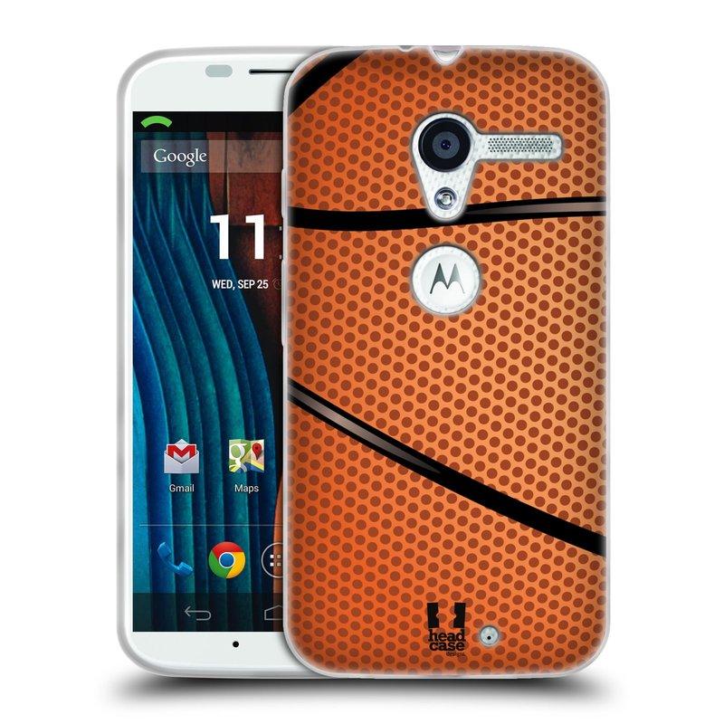 Silikonové pouzdro na mobil Motorola Moto X HEAD CASE BASKEŤÁK (Silikonový kryt či obal na mobilní telefon Motorola Moto X)