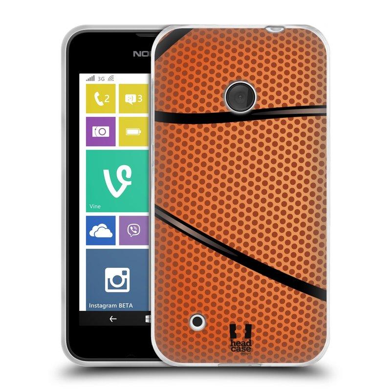 Silikonové pouzdro na mobil Nokia Lumia 530 HEAD CASE BASKEŤÁK (Silikonový kryt či obal na mobilní telefon Nokia Lumia 530)