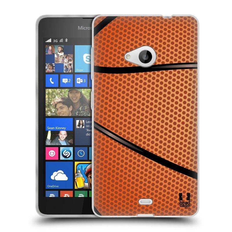 Silikonové pouzdro na mobil Microsoft Lumia 535 HEAD CASE BASKEŤÁK (Silikonový kryt či obal na mobilní telefon Microsoft Lumia 535)