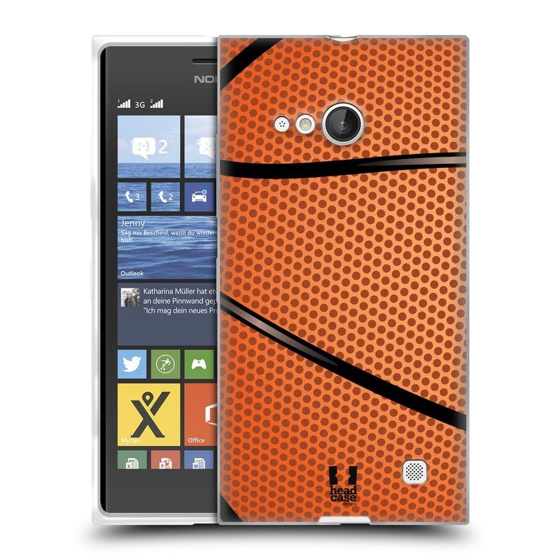Silikonové pouzdro na mobil Nokia Lumia 735 HEAD CASE BASKEŤÁK (Silikonový kryt či obal na mobilní telefon Nokia Lumia 735)