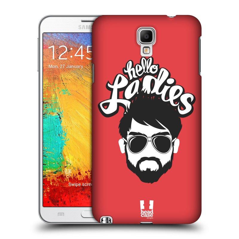 Plastové pouzdro na mobil Samsung Galaxy Note 3 Neo HEAD CASE KNÍRAČ HELLO LADIES (Kryt či obal na mobilní telefon Samsung Galaxy Note 3 Neo SM-N7505)