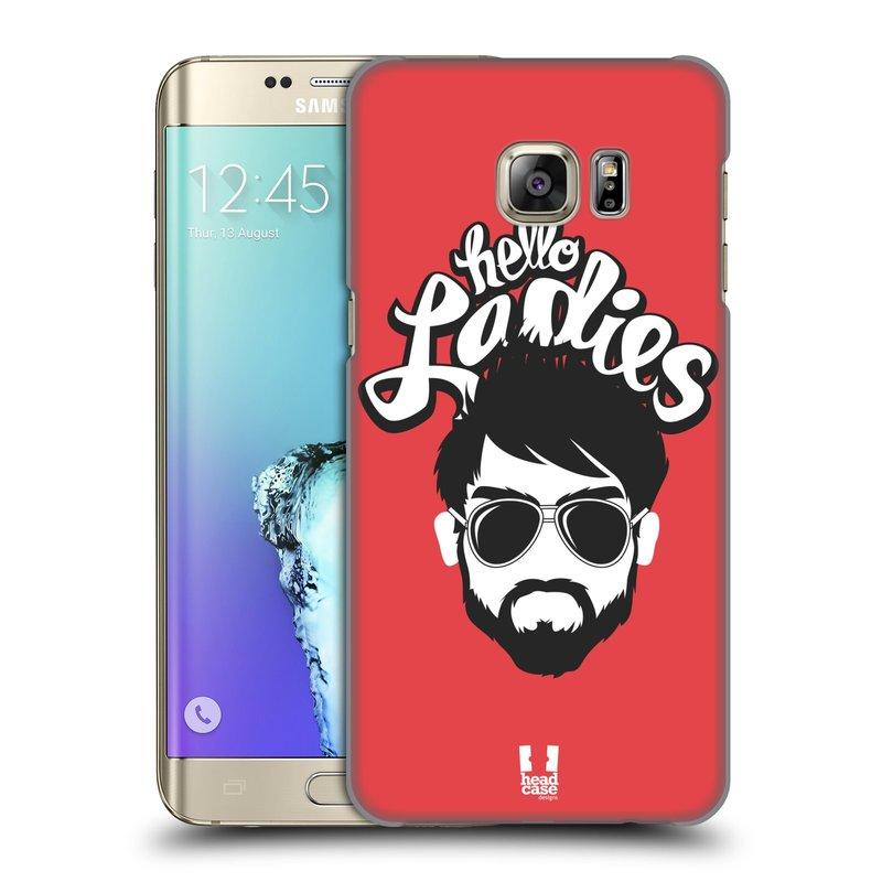 Plastové pouzdro na mobil Samsung Galaxy S6 Edge Plus HEAD CASE KNÍRAČ HELLO LADIES (Kryt či obal na mobilní telefon Samsung Galaxy S6 Edge Plus SM-G928F)