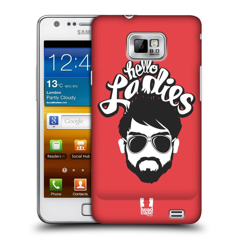 Plastové pouzdro na mobil Samsung Galaxy S II HEAD CASE KNÍRAČ HELLO LADIES (Kryt či obal na mobilní telefon Samsung Galaxy S II GT-i9100)