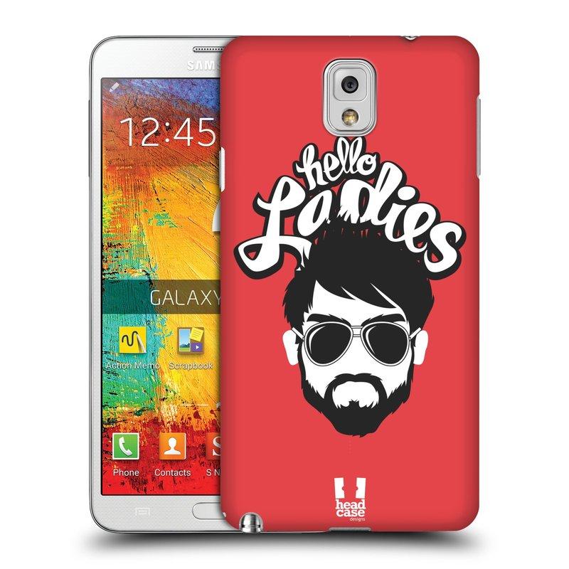 Plastové pouzdro na mobil Samsung Galaxy Note 3 HEAD CASE KNÍRAČ HELLO LADIES (Kryt či obal na mobilní telefon Samsung Galaxy Note 3 SM-N9005)
