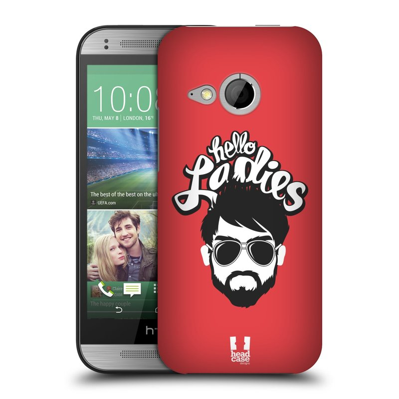 Plastové pouzdro na mobil HTC ONE Mini 2 HEAD CASE KNÍRAČ HELLO LADIES (Kryt či obal na mobilní telefon HTC ONE Mini 2)