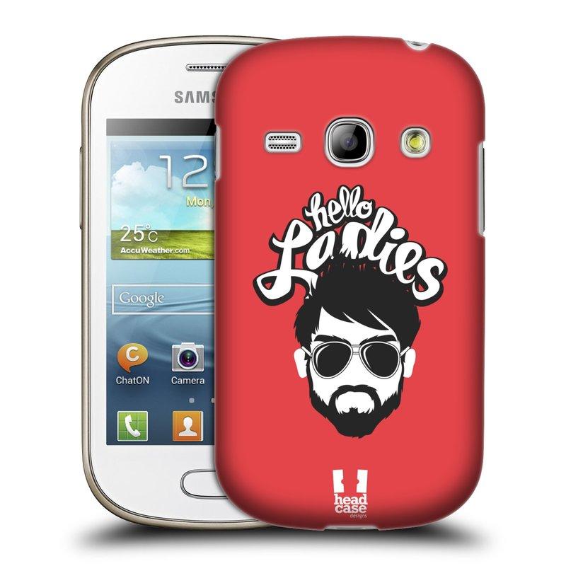 Plastové pouzdro na mobil Samsung Galaxy Fame HEAD CASE KNÍRAČ HELLO LADIES (Kryt či obal na mobilní telefon Samsung Galaxy Fame GT-S6810)
