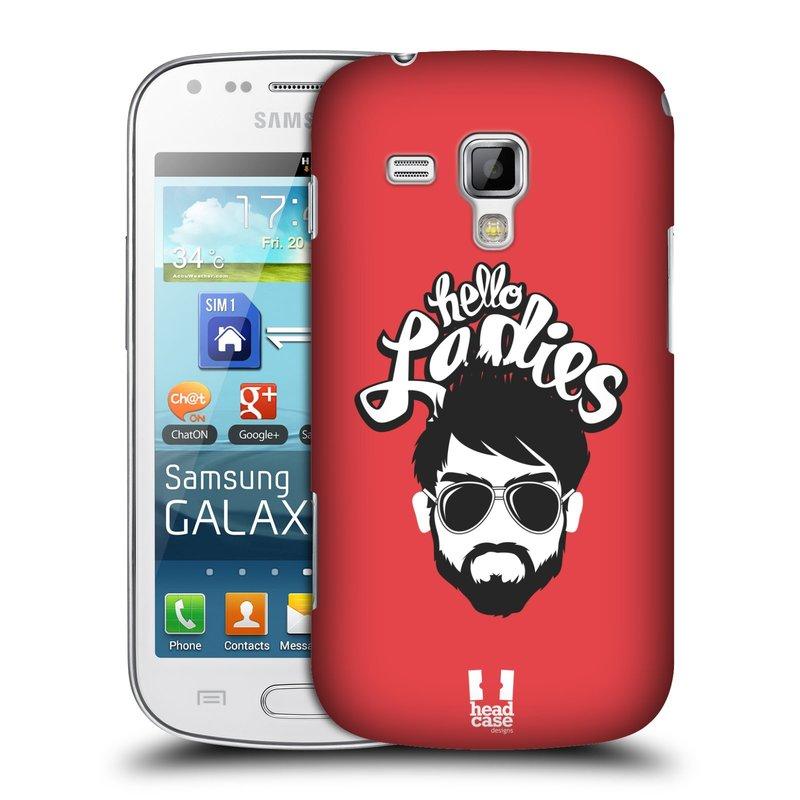 Plastové pouzdro na mobil Samsung Galaxy Trend HEAD CASE KNÍRAČ HELLO LADIES (Kryt či obal na mobilní telefon Samsung Galaxy Trend GT-S7560)