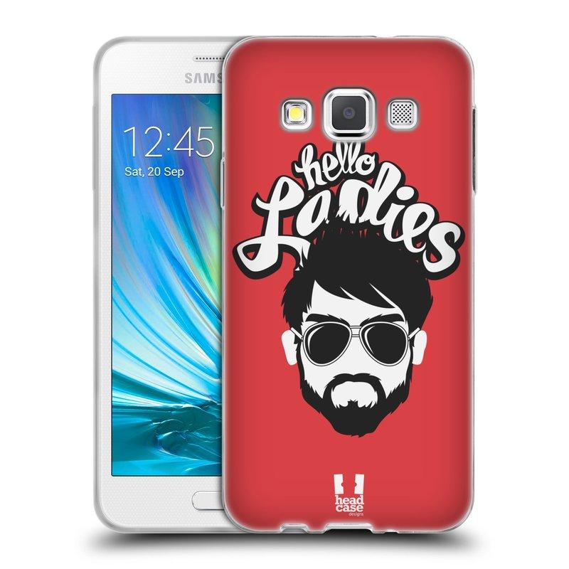 Silikonové pouzdro na mobil Samsung Galaxy A3 HEAD CASE KNÍRAČ HELLO LADIES (Silikonový kryt či obal na mobilní telefon Samsung Galaxy A3 SM-A300)