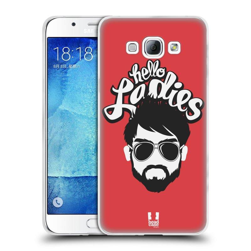 Silikonové pouzdro na mobil Samsung Galaxy A8 HEAD CASE KNÍRAČ HELLO LADIES (Silikonový kryt či obal na mobilní telefon Samsung Galaxy A8 SM-A800)