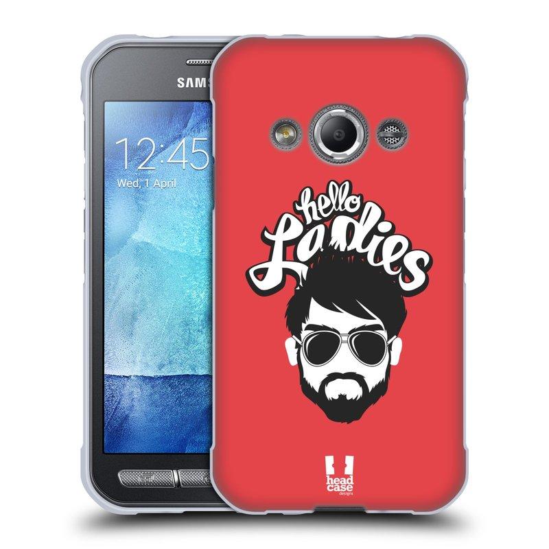 Silikonové pouzdro na mobil Samsung Galaxy Xcover 3 HEAD CASE KNÍRAČ HELLO LADIES (Silikonový kryt či obal na mobilní telefon Samsung Galaxy Xcover 3 SM-G388F)