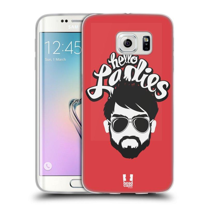Silikonové pouzdro na mobil Samsung Galaxy S6 Edge HEAD CASE KNÍRAČ HELLO LADIES (Silikonový kryt či obal na mobilní telefon Samsung Galaxy S6 Edge SM-G925F)